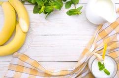Milkshake with banana. Stock Images