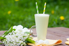 Milkshake, beza, lily bukiet Obraz Stock