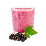 Milkshake with a black currant Stock Images
