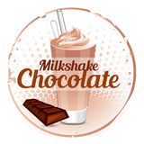 Milkshake chocolate background Stock Images