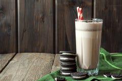 Free Milkshake (chocolate Smoothie) With Cookies Stock Images - 63346294