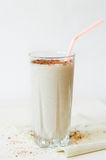 Milkshake with chocolate topping in glass cup Royalty Free Stock Photo