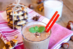 Milkshake and cookies Royalty Free Stock Photo