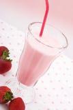 Milkshake da morango Foto de Stock
