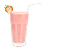Milkshake da morango Foto de Stock Royalty Free