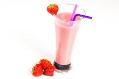 Milkshake da morango imagens de stock