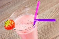 Milkshake da morango fotos de stock royalty free