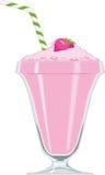 Milkshake da morango Imagens de Stock Royalty Free