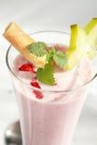 Milkshake de la fresa Imágenes de archivo libres de regalías