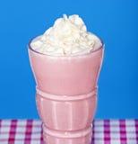 Milkshake de la fresa Fotografía de archivo libre de regalías