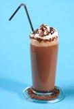 Milkshake del chocolate fotografía de archivo libre de regalías