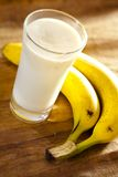 Milkshake del plátano Imagen de archivo