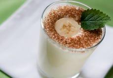 Milkshake del plátano Imagen de archivo libre de regalías