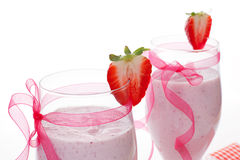 Milkshake detail. Royalty Free Stock Images
