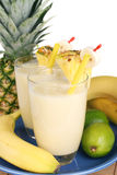 Milkshake fruity fresco foto de stock