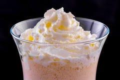 Milkshake in a glass Stock Photos