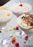 Milkshake in a glass with candies Royalty Free Stock Image