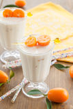Milkshake with kumquats Stock Image
