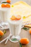 Milkshake with kumquats Stock Image