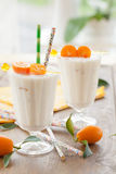 Milkshake with kumquats Royalty Free Stock Photography