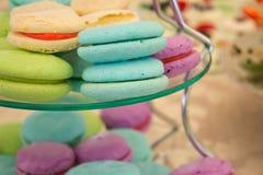 Milkshake Macarons Photographie stock libre de droits