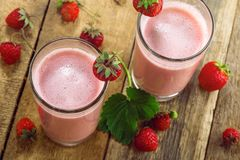 Strawberry milkshake Stock Photography