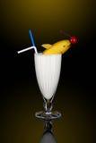 Milkshake met decoratie royalty-vrije stock afbeelding