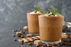 Milkshake met koffie en roomijs royalty-vrije stock foto
