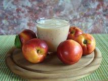 Milkshake nectarine Stock Images