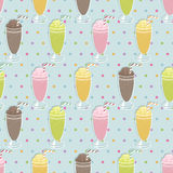 Milkshake pattern Royalty Free Stock Images
