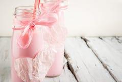 Milkshake pour le jour de valentines Images libres de droits