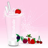 Milkshake Red fruits Royalty Free Stock Photos