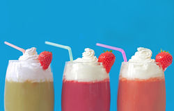 Milkshake smoothies Stock Image
