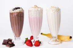 Milkshake on the table stock photos