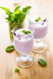 Milkshake on the table Stock Image