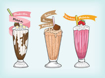 Milkshake vector and cliparts design Royalty Free Stock Image