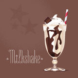 Milkshake vector illustration, design element Royalty Free Stock Photos