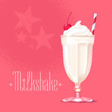 Milkshake vectorillustratie, ontwerpelement stock illustratie