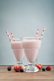 Milkshake on wodeen table Stock Photography