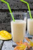 Milkshake with yogurt and mango Royalty Free Stock Image
