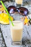 Milkshake with yogurt and mango Stock Photography