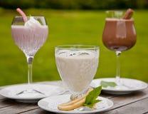 Milkshakefruit smoothie Royalty-vrije Stock Afbeeldingen