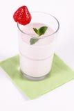 milkshakejordgubbe Fotografering för Bildbyråer