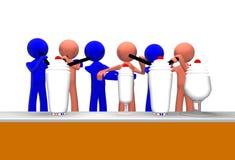 milkshakes друзей 3d сладостные Стоковое Изображение RF