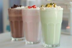 milkshakes arkivfoton