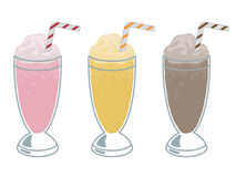 milkshakes stock illustrationer