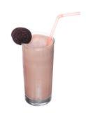 Milkshakes chocolate flavor ice cream isolated on white. Background royalty free stock photo