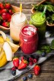 Milkshakes и smoothies Стоковые Изображения