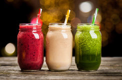 Milkshakes and smoothies Stock Images