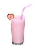 Milkshakes strawberry flavor ice cream isolated on white. Background stock photos